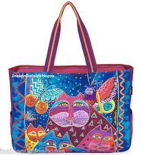 Laurel Burch Cats Butterflies Oversized Tote Travel Beach Sport Bag New