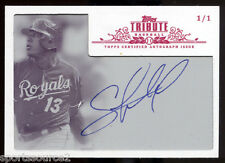 Salvador Perez 2013 Topps Tribute White Whale 1/1 Auto Signed World Series MVP !