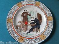 19th Century Ivanhoe Plate polychrome , Wedgwood Etruria England Black Night[185