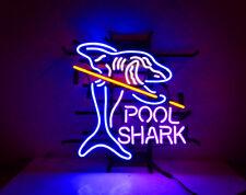 Shark Pool Gift Pub Neon Light Wall Artwork Handmade Beer Sign Room Eye-catching