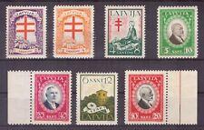 Lettland Nr. 161/68ex 7 Werte Tuberkulose 1930 ** MNH Mi: 13€