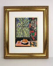 "1948 MATISSE Antique Print ""Interior with Egyptian Curtain"" SIGNED Framed COA"