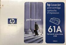 Hewlett-Packard New HP C8061A 61A Genuine Toner Cartridge Open Box Broken Seal