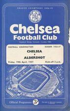 Aldershot Football Reserve Fixture Programmes (1950s)