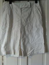 WHITE  LONG SHORTS, SIZE 12