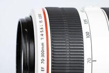 Canon EF 70-300mm F/4-5.6 L Lens - Black/White