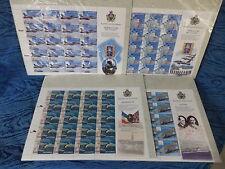 1025) - 100° Anniversario Del Primo Aeroplano a Motore 2003 - 4 Fogli da 20 Val