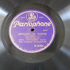 """78rpm 12"""" EMMY BETTENDORF strauss - ariadne in naxos ein shone war / mit seinem"""