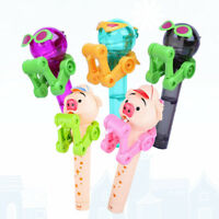 PIG ROBOT LOLLIPOP TOY HOLDER DECOMPRESSION RELIEVER CHRISTMAS XMAS GIFT FUNNY