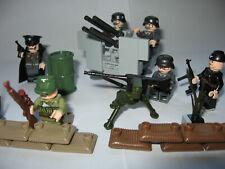 6 German Mini Figuren f..Lego,  Cobi Army WW2 mit Flakvierling und vielen Waffen
