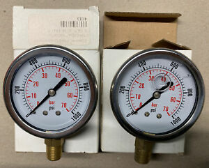 (2) Dynamic Fluid Components 1000 PSI Stem Mounted Dynamic Pressure Gage