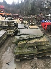 Yorkshire Stone flags - reclaimed - mixed sizes - approx 30-40sq meters
