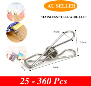 Stainless steel pegs clothes hanging clips pins laundry windproof clamp up to360