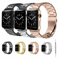 For Apple Watch Band 38/40/42/44mm Series Stainless Steel Strap Bracelet Metal