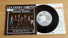 "LUCIFER'S FRIEND - GOOD TIMES - 45 GIRI 7""+PROMO SHEET - GERMANY PRESS"