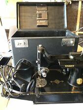 New ListingVintage Singer Featherweight Sewing Machine w Case & Attachments 3-120 Works