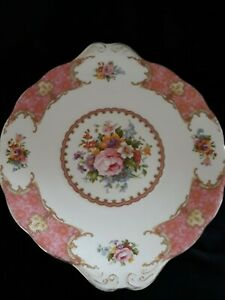 Rare Royal Albert LADY CARLYLE  Bone China Cake/Serving Plate1944-1950