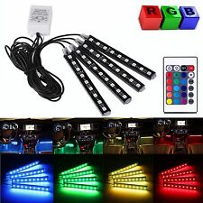 4in1 LED RGB Car Interior Auto Under Dash Foot Seat Inside Light Remote Control