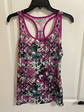 Floral Ladies Academy Athletic, Sports, Work Out, Tennis Shirt / Top Size M