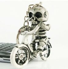 Bike Skull Gothic Creative Fashion Purse Bag Rubber KeyChain Keyring Gift