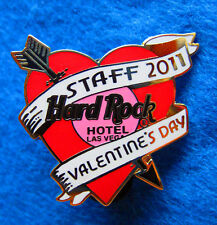New listing Staff Las Vegas Hotel Valentine 2011 Red Heart With Arrow Hard Rock Cafe Pin Le