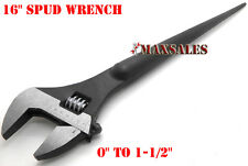 "16"" ADJUSTABLE SPUD WRENCH TAPERED HANDLE FOR ALIGNING BOLTS"