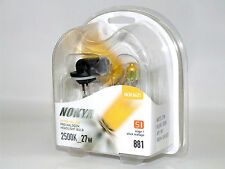 Nokya 2500K 27w Hyper Yellow 881/H27W/2 Halogen Fog Light Bulbs