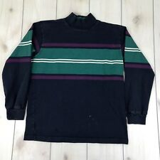 Thatcher & Cross Rugby Sweatshirt Mens Large USA Made Blue Striped Collar