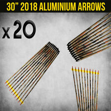 "20X 30"" ALUMINIUM CAMO ARROWS FOR COMPOUND OR RECURVE BOW TARGET ARCHERY NEW"