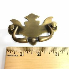 Drop Bail Pull Handle Japanned Brass Chippendale Style: Drawer Screw Spread 3""