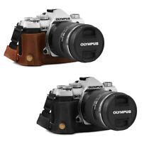 MegaGear Ever Ready Genuine Leather Half Case for Olympus OM-D E-M5 Mark III