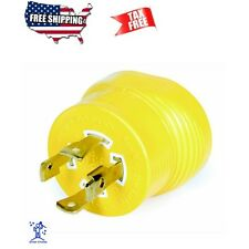 RV Generator Adapter Plug 30 Amp 4-Prong Power Grip Camping Accessories New