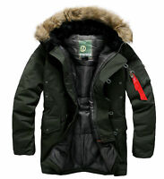 Southplay Mens Waterproof Racoon Hood Gore-Tex Military Ski-Snowboard Jacket