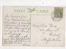 Miss Rose Bird Shaw Street Walsall 1908  957a