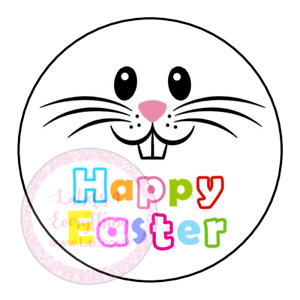 Happy Easter Bunny Rabbit Face Easter Egg Party Sweet Cone Stickers Hamper