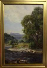 DAVID COX Jnr (1809-1885) Welsh Romantic Landscape Oil Painting RIVER CONWY