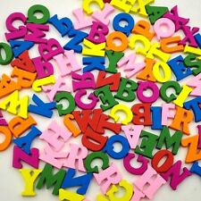 100pcs Mixed Wooden Buttons Letters Shape Sewing Cloths Crafts DIY Daily Goods
