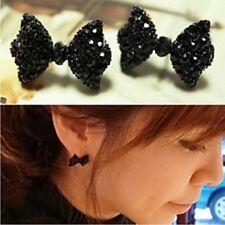 !1396 NiX Women Butterfly Cute Small Earrings Women Gift Girl Black Bow Earrings