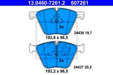 Bremsbelagsatz, Scheibenbremse für Bremsanlage Vorderachse ATE 13.0460-7261.2