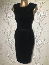 HOBBS - Ladies BLACK WOOL DRESS - Size 12