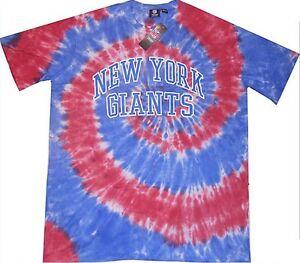 New York Giants NFL Team Apparel Mens Tie Dye Shirt Big And Tall Sizes