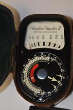 ​Vintage Weston Master II Exposure Meter with Leather Case - FREE P&P [PL2292]