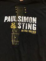 VINTAGE T SHIRT 2014 PAUL SIMON AND STING ON STAGE TOGETHER TOUR Large TEE SHIRT