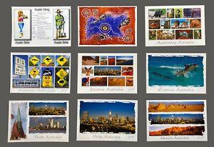 9 x Western Australia Postcards, Kangaroo, Koala, Perth, Road Signs