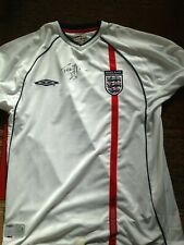 England Football Signed Shirt Home Umbro Signed By Teddy Sheringham