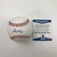 Autographed/Signed COREY KLUBER Indians Rawlings ROML Baseball Beckett BAS COA