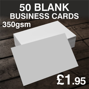 50 Blank Business Cards 350GSM Premium Cards 24 Hours Dispatch FAST & FREE