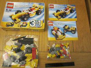 Lego Creator 31002 Super Racer 100% complete with original manuals