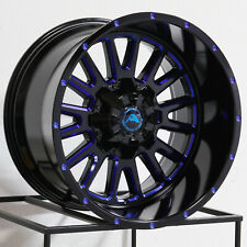 20x12 44 American Off Road A105 6x1356x1397 Black Blue Tint Wheelsset Of 4
