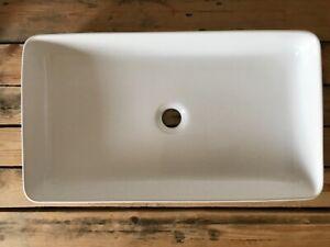 New rectangular bathroom countertop ceramic basin sink.